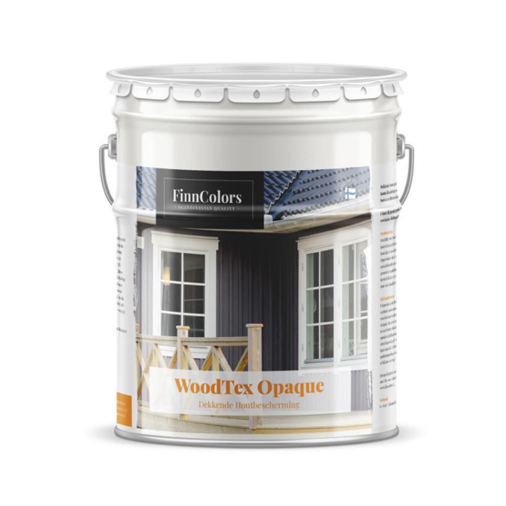 Dekkend, watergedragen (acryl) houtbeschermingsproduct woodtex opaque finse beits