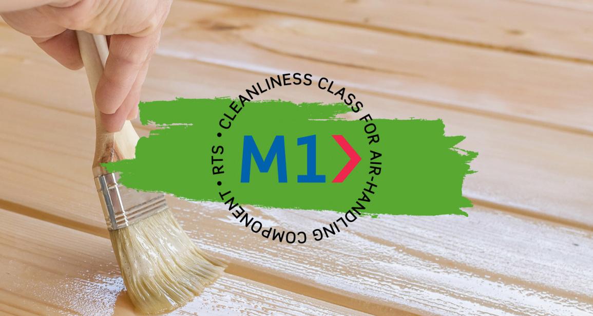 m1 logo milieubewuste beits en lak