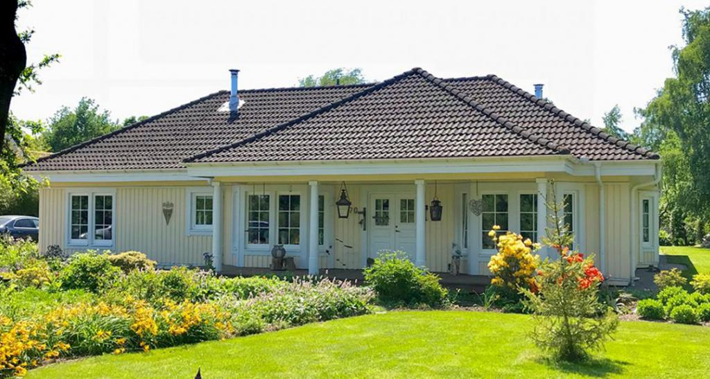 huis geverfd houten huis beits scandinavische verf